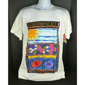 Vtg 1990 Oversized T-Shirt Tree Hugger Oceans